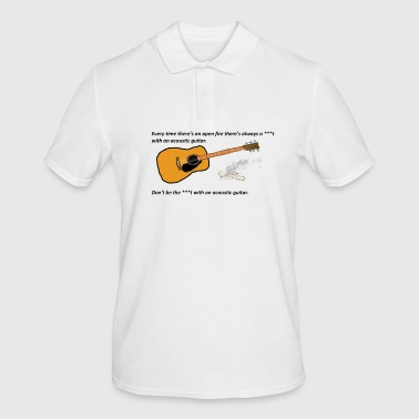 The **** with the guitar - Men's Polo Shirt