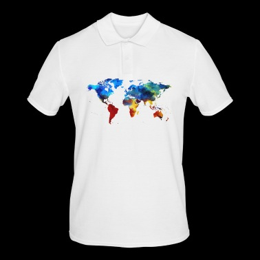 World Map, World - Men's Polo Shirt