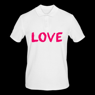 The word love - Men's Polo Shirt