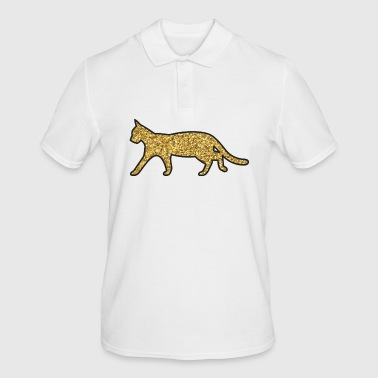 Glitter cat - Men's Polo Shirt