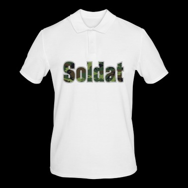 Soldier lettering camouflage camouflage paint - Men's Polo Shirt