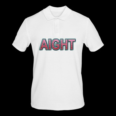 AIGHT Retro Comic Lettering - Mannen poloshirt
