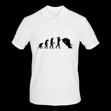 painter evolution progress development - Men's Polo Shirt