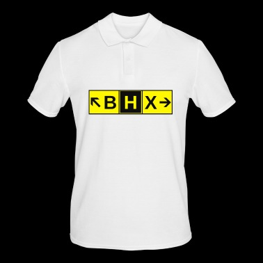 BHX Airport Taxiway Direction Sign Array - Men's Polo Shirt