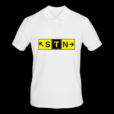 STN Stansted Airport Taxiway Direction Sign Array - Men's Polo Shirt