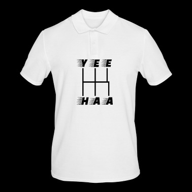 yeehaa Manual Gear Shift Scheme Black - Men's Polo Shirt