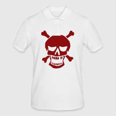 Skull with bone - Men's Polo Shirt