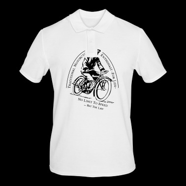 Traditional Motorcycle Enthusiast -For Life - Men's Polo Shirt