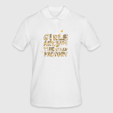 Girls Are Make At The Silly Factory - Men's Polo Shirt