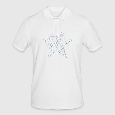 Star with anchor pattern and sunbeams - Men's Polo Shirt
