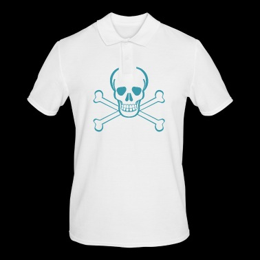 Skull in pirate flag Gift idea - Men's Polo Shirt