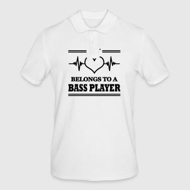 My heart belongs to a bass player - Men's Polo Shirt