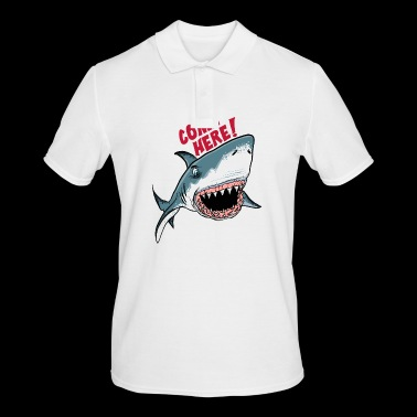 Great White Shark Come Here - Men's Polo Shirt