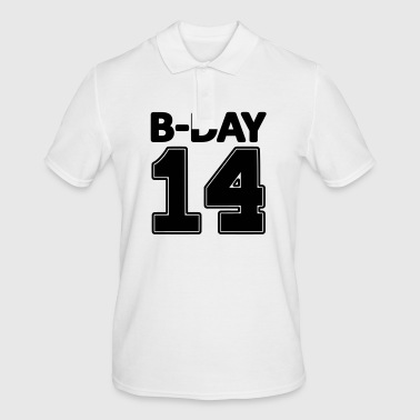 14 number fourteen / birthday number number jersey - Men's Polo Shirt