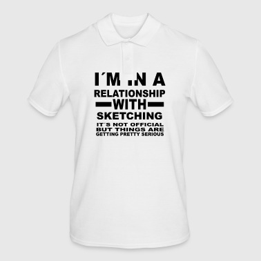 relationship with SKETCHING - Men's Polo Shirt