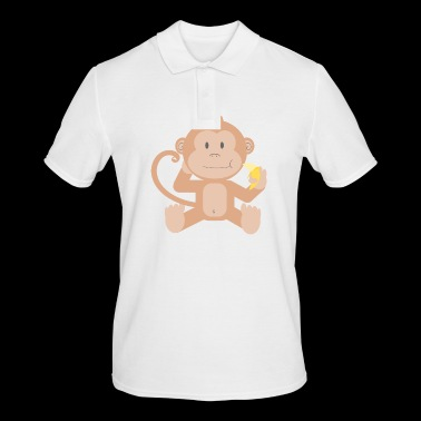 Monkey with banana - Men's Polo Shirt