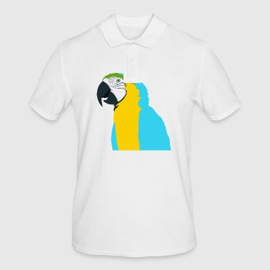 Parrot blue yellow green beak - Men's Polo Shirt