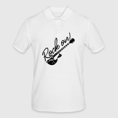 Rock on with guitar - Men's Polo Shirt