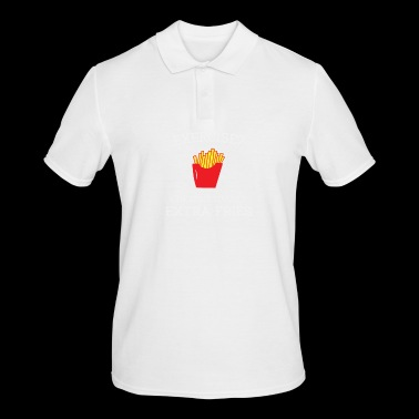 Extra fries wit - Mannen poloshirt