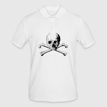 Skull with bones - Men's Polo Shirt