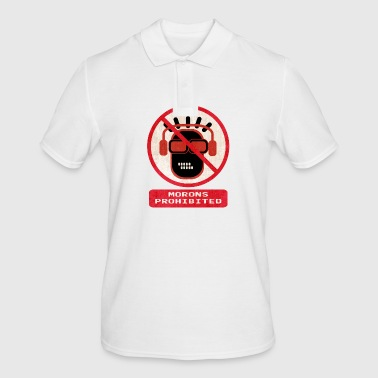 Morons prohibited - Men's Polo Shirt