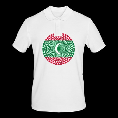 Maldives Maldives Love HEART Mandala - Men's Polo Shirt