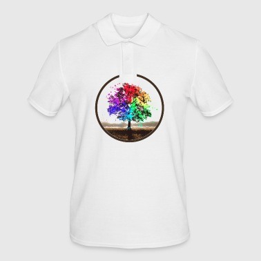 Splatter tree - Men's Polo Shirt