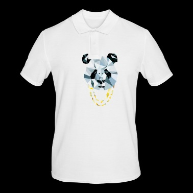 Panda 3D Polygon - Comic Book - Men's Polo Shirt