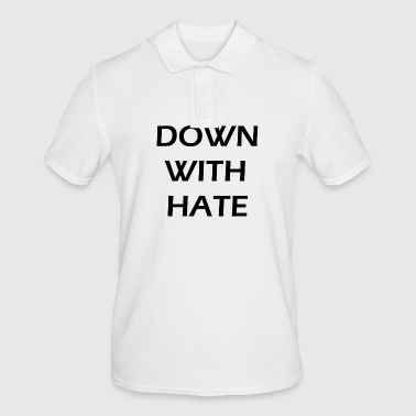 down with hate - Men's Polo Shirt