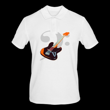 Bass with bass notes key - Men's Polo Shirt