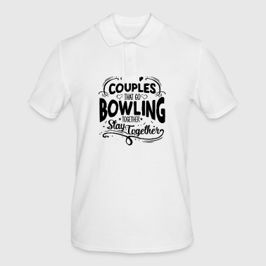 COUPLES THAT GO BOWLING - Men's Polo Shirt