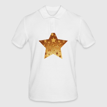 Star with asterisks - gold with gold - Men's Polo Shirt