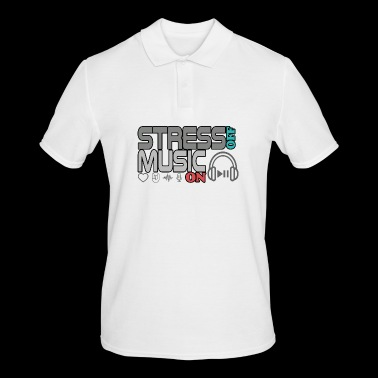 Turn off stress - turn on music - Men's Polo Shirt