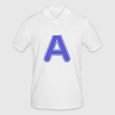 Alphabet - Letter - A - Men's Polo Shirt