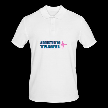 Addicted to travel - Men's Polo Shirt