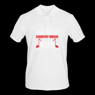 Country music and beer - Men's Polo Shirt