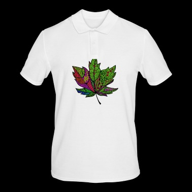 colorful leaf - Men's Polo Shirt