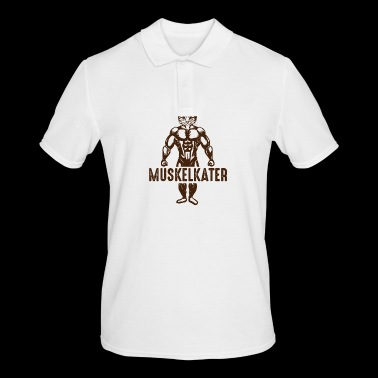 MUSCLE CAT Cat with muscles - Men's Polo Shirt