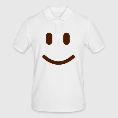 Smile Emoticon - Männer Poloshirt