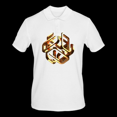 gold cubes - Men's Polo Shirt