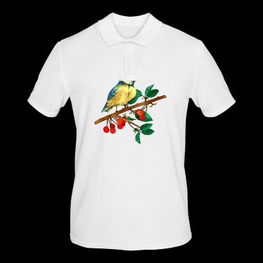 Titmouse and cherries - Men's Polo Shirt