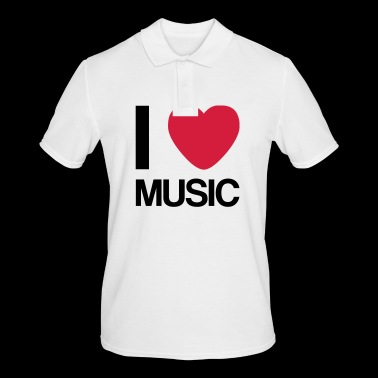I LOVE MUSIC gaveide - Poloskjorte for menn