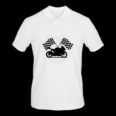 Motorcycle racing flags - Men's Polo Shirt