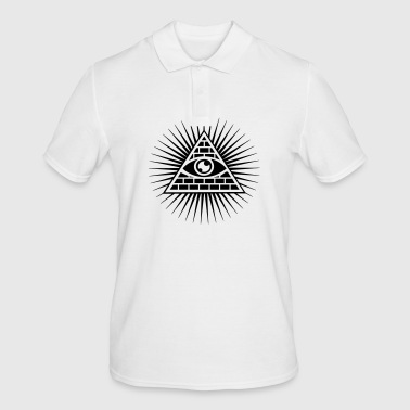 All seeing eye Triangle Horus Freemasons - Men's Polo Shirt