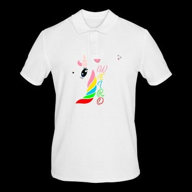 Unicorn unicorns hest fantasy gave ide - Poloskjorte for menn