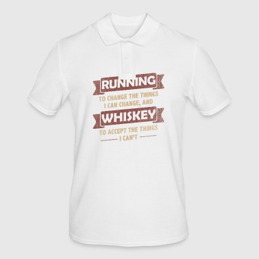 Funny Quotes> Running + Whiskey - Men's Polo Shirt