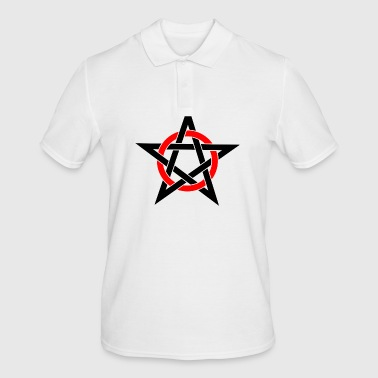 Pentagram Drudenfuß Witch Pagan Witch Esoteric - Men's Polo Shirt