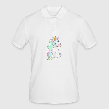 Unicorn sitting - Unicorn Sitting - Men's Polo Shirt