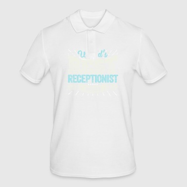 TOP Receptionist: Worlds Best Receptionist Ever - Men's Polo Shirt