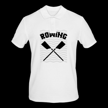 Rowing oarsman rowing rowing - Men's Polo Shirt